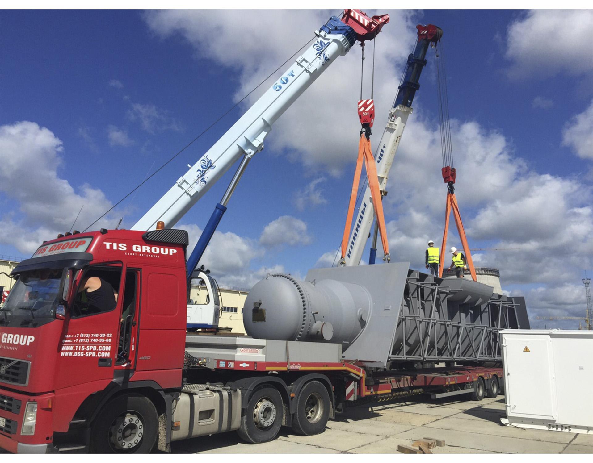 Транспортировка энергетического оборудования для Белорусской АЭС