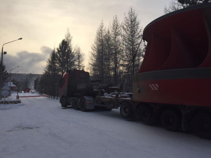Перевозка рабочего колеса для Усть-Илимской ГЭС