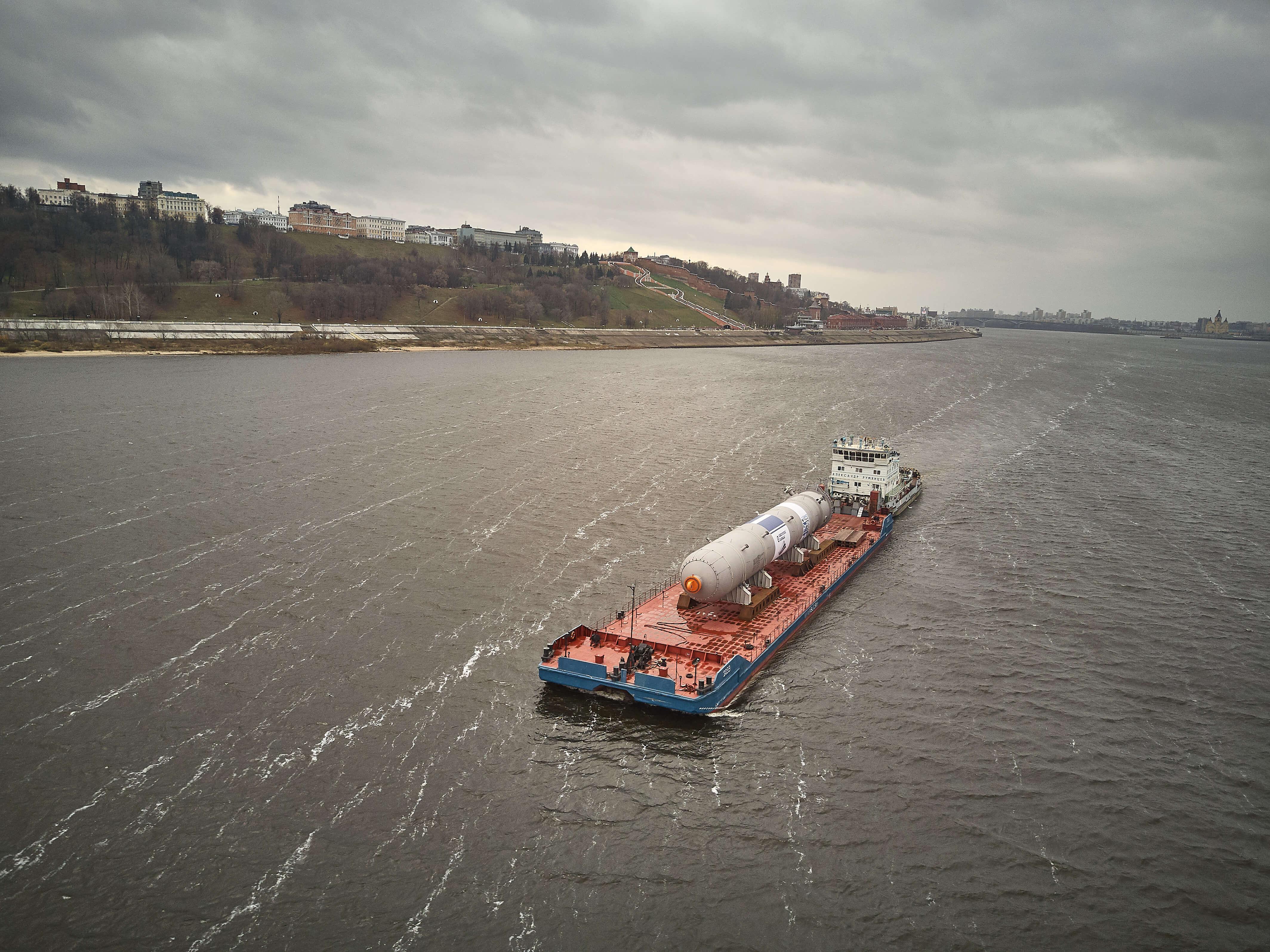 Перевозка реактора в Нижнекамск